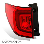 2016-2018 Replacement Outer Driver Tail Light For Honda Pilot W/ Bulb + Socket