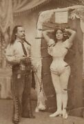 1900 Knife Thrower And Assistant Old Vintage Photo 13 X 19 Reprint