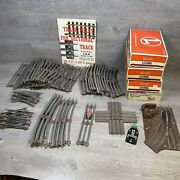 Huge Lot Of Lionel 027 Track W/brown Ties And Manual Switches