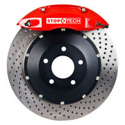 Disc Brake Upgrade Kit-red Caliper / Drilled Rotor Front Fits 93-95 Mazda Rx-7