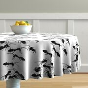 Round Tablecloth Ants Insects Bugs Creepy Crawly Critters Picnic Cotton Sateen