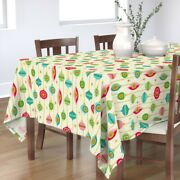 Tablecloth Ornaments Stars Christmas Holidays Baubles Cotton Sateen