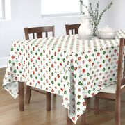 Tablecloth Ornaments Christmas Holiday Retro Vintage Atomic Cotton Sateen