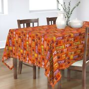 Tablecloth Thermos Coffee Hot Chocolate Retro 1970 Cotton Sateen