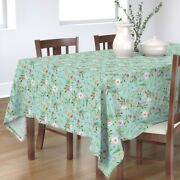 Tablecloth Floral Flowers Vintage Rose Wildflowers Autumn Fall Cotton Sateen