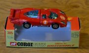 Vintage Boxed Corgi Toys Whizzwheels 385 Red Porsche 917 Racing Number 3