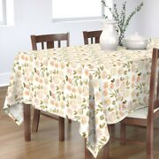 Tablecloth Rose Floral Shabby Chic Vintage Floral Modern Floral Cotton Sateen
