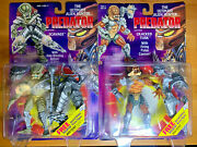 Lot Of 2 Predator Action Figures Scavage And Cracked Tusk Ultimate Alien Hunter