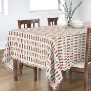 Tablecloth Retro Mod Thermoses Camping Travel Thermos Coffee Tea Cotton Sateen
