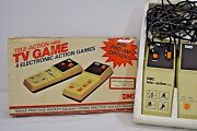 Vintage Tele-action Mini Tv Game 4 Electronic Action Games Dms Untested 1970's