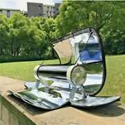 Portable Solar Power Cooker Outdoor Oven Stove Evacuate Parabolic Bbq Grill 550anddeg