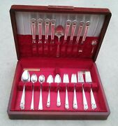 1847 Rogers Bros Eternally Yours Silver Plated Flatware Set 8 Place Settings