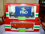 Lgb Train 4021 And 4102 - G Scale Gondola Car And Shipping Container Freight Trai