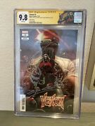 Venom 3 3rd Print Cgc 9.8 Signed Sketched W/ Color Cates And Stegman Knull Label