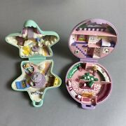Vintage Bluebird Polly Pocket Lot Of 2 - Fairy Wishing World And Pollyand039s Studio