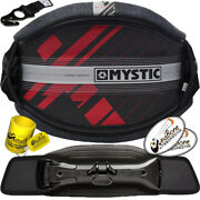 2020 Mystic Majestic X Carbon Shell Kiteboarding Kite Harness Red Stealth Hook