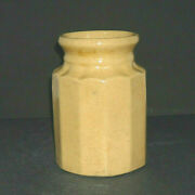 Novel Early 1860 - 1885 Yellow Ware Wax Sealer Jar - Stoneware Canner Canning