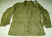 1943 Us Army Field Jacket M-1943 Size Medium Reenactor Repro By Atf