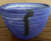 Mccartyandrsquos Pottery Blue 4andrdquo Bowl Genuine- 1st Quality