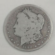1890-o 1 Morgan Silver Dollar Us Currency Rare Old New Orleans Mint Coin 40921b