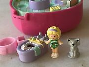 Polly Pocket Bluebird Uk Vintage Retired Pollyand039s Bath Time Fun Ring Complete And03991