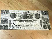 Original Chesapeake And Ohio Canal Co Currency 5 Dollars Sept 9 1840-1841 N0 1804
