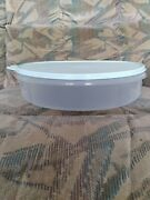 Tupperware Pie Keeper Carrier Round Container Cupcakes Cool Mint Seal