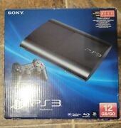 Sony Playstation 3 Ps3 Super Slim 12gb Console Open Box Never Played