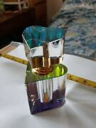 One Rare Unique Vintage Perfume Bottle With Glass Design With Prism Effect