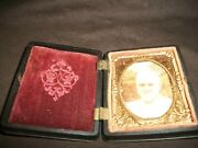 1800s Picture Photograph Hinged Book Frame Hard Case