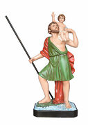 Statue Saint Christopher Cm 120 - In Fibreglass With Eyes Painted Made In Italy