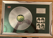 Beatles Framed Signed Picture And Silver Disc