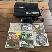Sony Playstation 3 Ps3 Ceche01 Backwards Lot Compatible Ps1 Ps2 80gb + Six Games