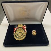 2005 Inauguration Of The President Security Badge And Pin Set Military Rare