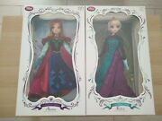 Disney Store Frozen Limited Edition 5000 Anna And Elsa 17 Dolls New Official