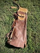 Vintage Leather Hand Tooled Cowboy Western Riding Chaps