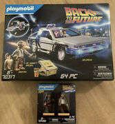 Playmobil 70317 Back To The Future Delorean + 70459 Marty And Brown + Advent 70574