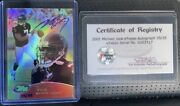 2001 Etopps Topps Michael Vick Rookie On Card Auto Refractor No. 140 Ed 35/35