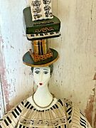 Rare Poupee Millet Doll By Isabelle Musical Theme Piano Needs Tlc China Head