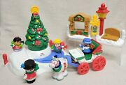 Fisher Price Little People Tree Lighting In Discovery Park W/extras+box Ds70