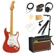S21824 Squier Classic Vibe 50s Stratocaster Mn Frd Electric Guitar With Vox Ampl