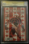 Death Of Wolverine 1 Cgc 5x Ss 9.8 Signed Stan Lee Canadian Variant Soule Ponsor