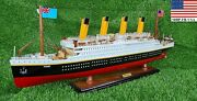 Rms Titanic Model Cruise Ship 32 L Decorative Vintage Boat Ship From Usa