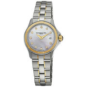 Raymond Weil Parsifal Gold And Diamond Ladies Watch 9460-sg-97081 - Rrp £1750 -new