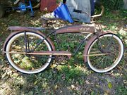 50s 26 Jc Higgins Manifold Menand039s Bicycle Rustic Patina Survivor Ready To Ride