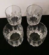 Set Of 4 Double Old Fashioned Firelight Clear By Lenox Usa Cut Crystal 4 Heavy
