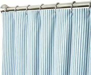 Decorative Things Extra Long Shower Curtain Unique Designer Fabric Blue Striped