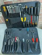 Lot- 2 Jensen Electrical Technician Lift Out Tool Trays With Tools - Used