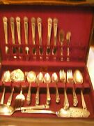 3pt8 💕 1847.rogers Bros Is Silverware Eternally Yours 53pc_8serving_case St135