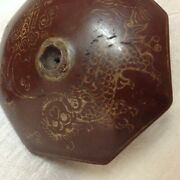 Antique Chinese Pottery Ceramic Clay Opium Pipe Bowl Damper